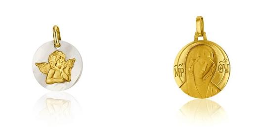 Médailles de baptême Ange de Raphaël et Vierge – Maison SANCTIS